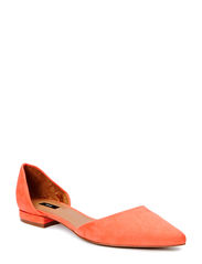 Pointed toe flat shoes - Bright red