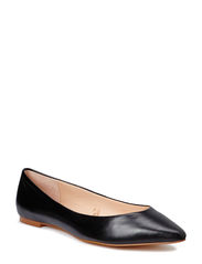 Leather flat shoes - Black