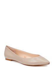 Leather flat shoes - Light beige