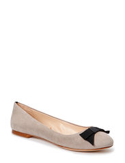 Bow ballerinas - Lt pastel grey