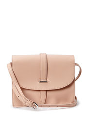 Flap cross-body bag - Lt pastel brown