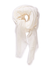 Textured scarf - Natural white