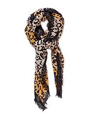 Leopard print scarf - Black