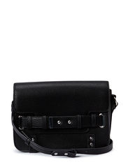 Flap pebbled bag - Black