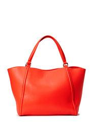 Pebbled shoppper bag - Medium red