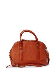 Pebbled tote bag - Medium brown