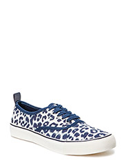 Leopard print sneakers - Navy