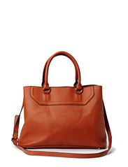 Pebbled tote bag - Medium brown