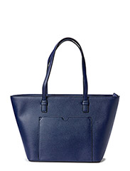 Saffiano-effect shopper bag - Navy