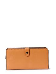 Saffiano-effect wallet - Medium brown