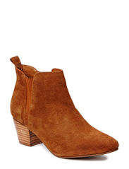 Suede ankle boots - Medium brown