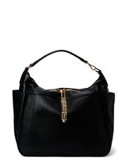 Pebbled hobo bag - Black