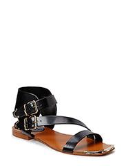 Metal detail sandals - Black