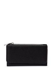 Pebbled wallet - Black