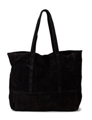 Suede shopper bag - Black