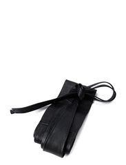 Leather sash belt - Black