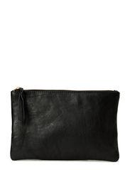 Leather clutch - Black