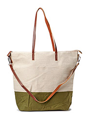 Jute cotton-blend bag - Medium beige
