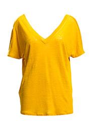 Linne t-shirt - DARK YELLOW