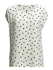 Polka-dot blouse - Natural white