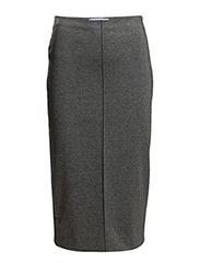 Vent pencil skirt - Medium grey