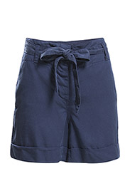 Bow flowy shorts - Navy