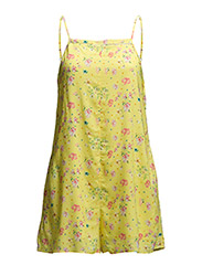 Floral print jumpsuit - Yellow