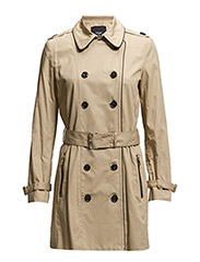 Cotton-blend trench coat - LT PASTEL BROWN
