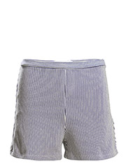 Cotton striped shorts - Navy
