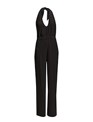 Halter neck jumpsuit - Black