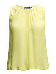 Pleated detail top - Yellow