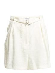 Buckle soft bermuda shorts - LIGHT BEIGE