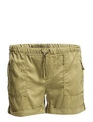 Soft fabric shorts - BEIGE - KHAKI