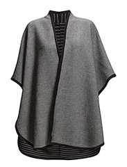 Waterfall poncho - BLACK