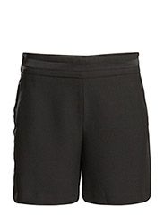 Satin waist bermuda shorts - BLACK