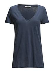V-neck t-shirt - Medium blue