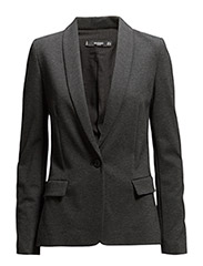 Essential cotton-blend blazer - DARK GREY