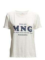Logo bomull t-shirt - NATURAL WHITE