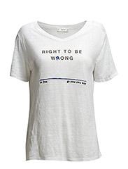Message linen t-shirt - Natural white