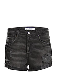 Dark denim shorts - OPEN GREY