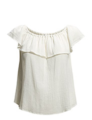 Ruffle top - Natural white