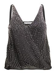 Metal beads top - BLACK