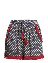 Floral print shorts - MEDIUM BLUE