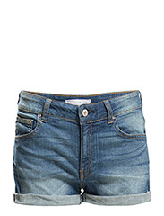 Medium wash denim shorts - OPEN BLUE