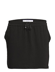 Smocked waist skirt - BLACK
