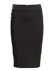 Back vent pencil skirt - Black