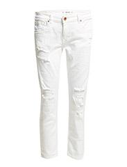 Nancy slim cropped jeans - WHITE