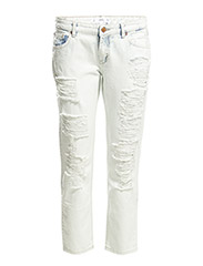 Nancy relaxed cropped jeans - Open blue