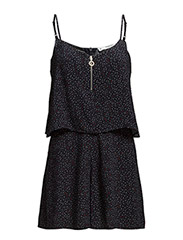 Printed short jumpsuit - Navy