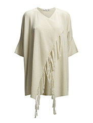 Waterfall fringed cardigan - Light beige